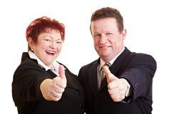 Deux gens aînés heureux Images stock