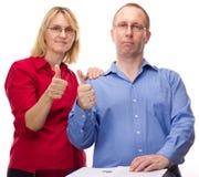 Deux gens d'affaires de travailler Images libres de droits