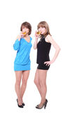 Deux gentilles filles Image libre de droits