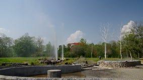 Deux geysers avec bien de l'eau chaude clips vidéos