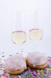 Deux glaces avec le champagne Photographie stock libre de droits