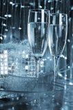 Deux glaces avec le champagne Image stock