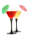 Deux glaces avec un cocktail Image libre de droits