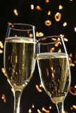 Deux glaces de champagne photographie stock libre de droits