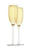 Deux glaces de champagne Image libre de droits