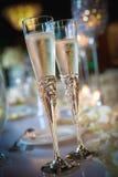Deux glaces de champagne Image stock