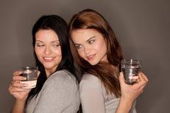 Deux glaces de l'eau Photographie stock