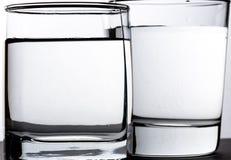 Deux glaces de l'eau Photo stock