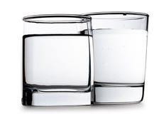 Deux glaces de l'eau Image stock