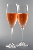 Deux glaces de Rosé Champagne Photographie stock