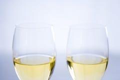 Deux glaces de vin Images libres de droits
