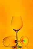 Deux glaces de vin image libre de droits