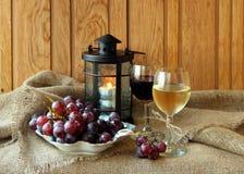 Deux glaces de vin Photographie stock libre de droits