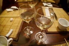 Deux glaces de vin Photos libres de droits