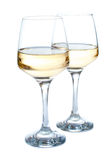 Deux glaces de vin blanc Photo stock