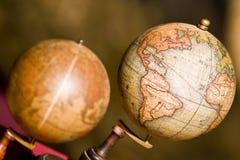 Deux globes Photographie stock