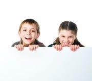 Deux gosses souriants Image libre de droits