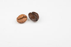 Deux grains de café Photographie stock