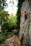Deux grimpeurs Image libre de droits