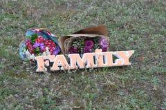deux groupes d'orange et de la famille de mot Images stock