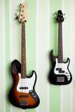 Deux guitares électriques Photo libre de droits