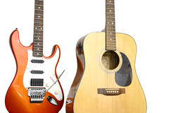 Deux guitares Photo stock