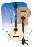Deux guitares Images stock