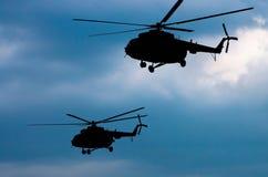 Deux hélicoptères de transport Image stock