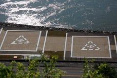 Deux héliports Image libre de droits