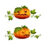 Deux Halloween pumpkin-01 Photographie stock