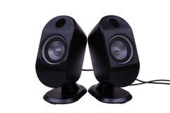Deux haut-parleurs Photo stock