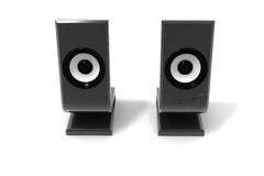Deux haut-parleurs audio Images libres de droits