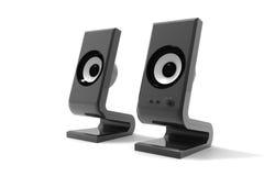 Deux haut-parleurs audio Photographie stock libre de droits