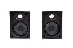 Deux haut-parleurs d'ordinateur Photographie stock