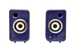 Deux haut-parleurs d'ordinateur Photo libre de droits