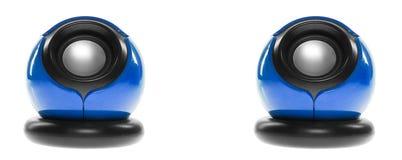 Deux haut-parleurs d'ordinateur Photos stock