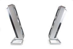 Deux haut-parleurs modernes se faisant face Photos stock