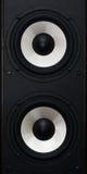 Deux haut-parleurs sonores Images stock