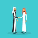 Deux homme d'affaires arabe Hand Shake, concept musulman d'accord de poignée de main d'homme d'affaires Images stock