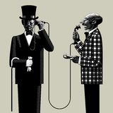 Deux hommes avec un téléphone Image stock