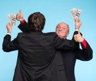 Deux hommes d'affaires heureux Photographie stock libre de droits
