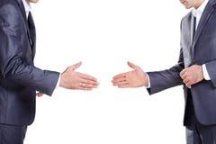 Deux hommes d'affaires prêts pour une prise de contact Photos libres de droits