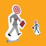 Hommes d'affaires se tenant comme cibles illustration de vecteur