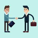 Deux hommes d'affaires sur les négociations illustration stock