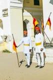 Deux hommes dans l'habillement traditionnel de Rajasthani Images libres de droits