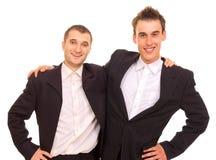 Deux hommes heureux Photos stock