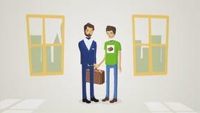 Deux hommes ont fait une affaire Abstraction de la transaction Concept de la transaction Image stock