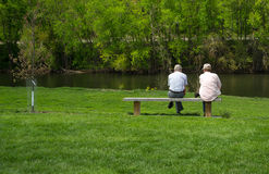 Deux hommes par James River Image libre de droits