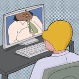 Deux hommes parlant en ligne illustration libre de droits