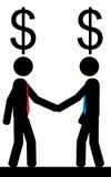 Deux hommes pensent à l'argent Photos libres de droits